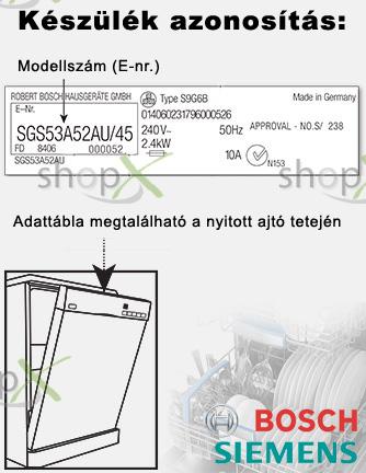 Bosch simens mosogatógép azonosítás